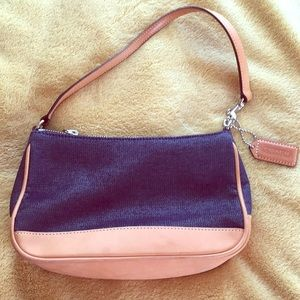 Denim and Leather Coach Bag